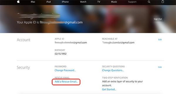 add rescue email apple id همه چیز درباره اپل آیدی