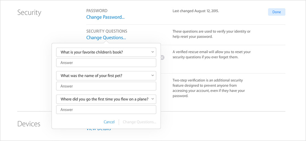 apple id security questions secure اپل آیدی چیست ؟