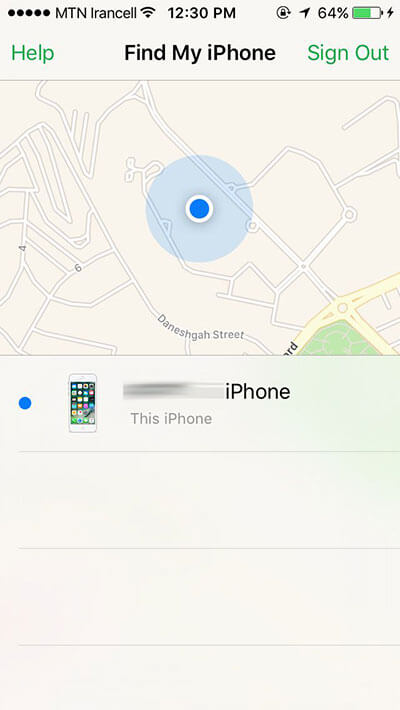 دستگاههای فعال find my iphone
