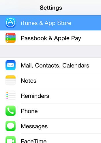 تنظیمات iTunes & App Store