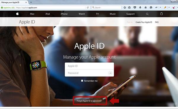 تغییر رمز عبور اپل ایدی