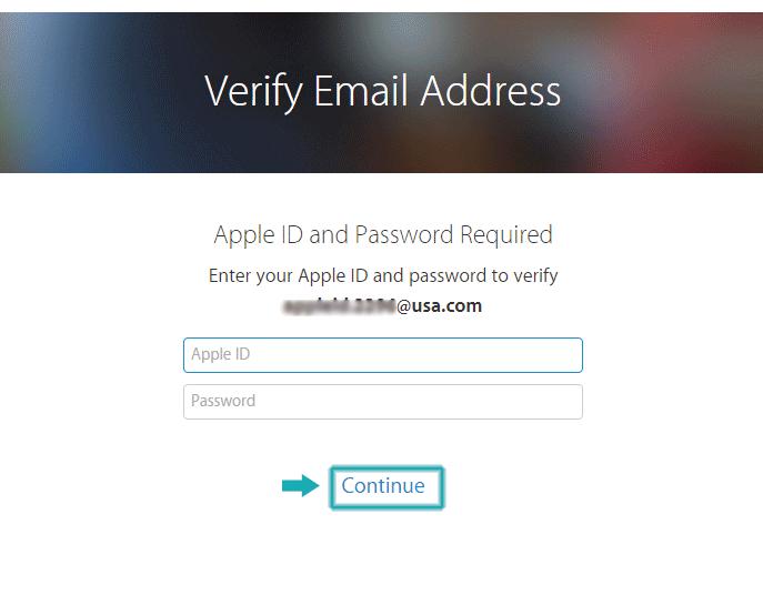 تایید ایمیل اپل آیدی